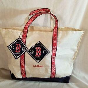 Commemorative LL Bean Boat Tarp Tote Bag Red Sox